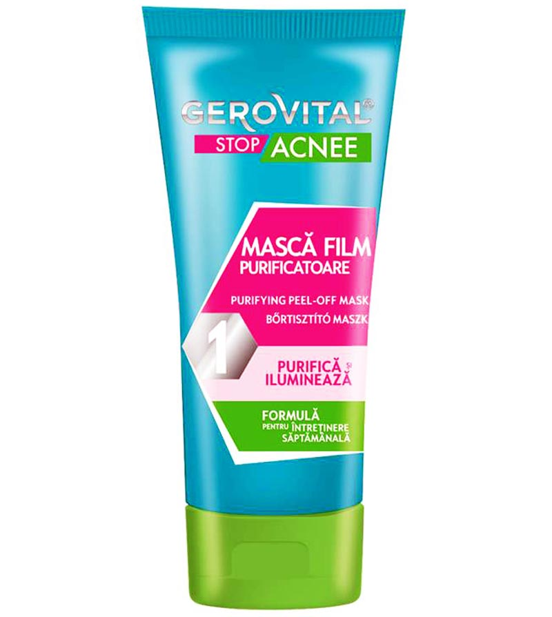 Purifying Peel Off Mask Gerovital Stop Acne 100 Ml